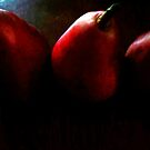 3 Red Pears by DionNelson