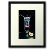 Freezing Fruits Framed Print