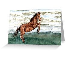 Cloud Burst Over Jeannie Horse Greeting Card