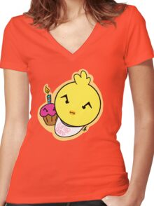 Chica Grump Women's Fitted V-Neck T-Shirt