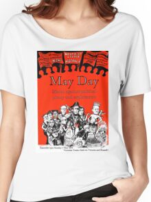 Victorian May Day Poster 2015 Women's Relaxed Fit T-Shirt