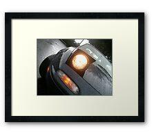 Miata in the Rain - Headlight Close-up Framed Print