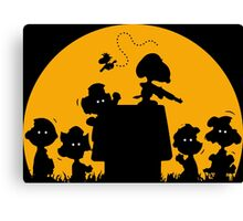 Peanuts Zombies Canvas Print