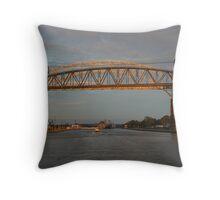 Sunset on the International Bridge Throw Pillow