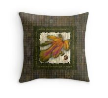 Houndstooth Acorns Throw Pillow