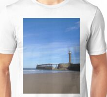 Whitby harbour wall Unisex T-Shirt
