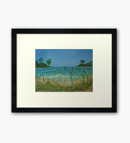 Carribean Blues Framed Print