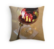 """Lemon Ice Cream With Raspberries"" Throw Pillow"