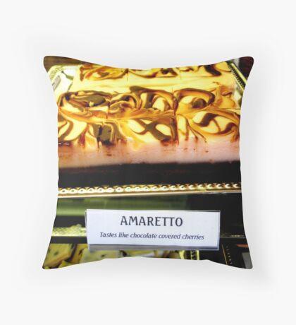 """Amaretto Bars"" Throw Pillow"