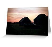 Sunset. Light. Greeting Card