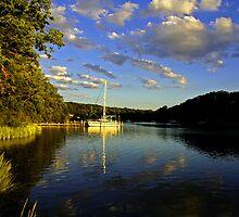 Sunset Sailboat by Eileen McVey