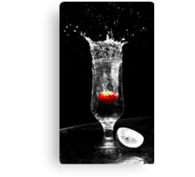 Black and White Fruit Canvas Print