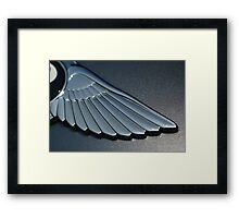 BRINGS NEW MEANING TO LEFT WING - CARS NOT POLITICS  Framed Print