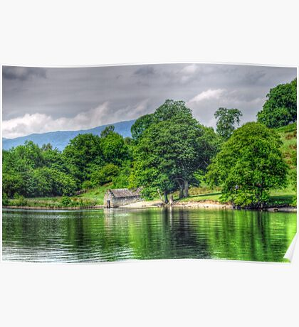 The Boat House - Lake Windermere Poster