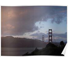 Golden Sunset/Golden Gate Poster