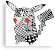 Intricate Pikachu Silhouette Canvas Print