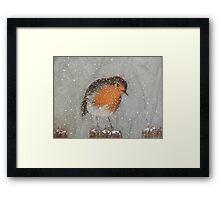 I Love Snow Framed Print