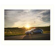 Genesis Coupe at Sunset Art Print