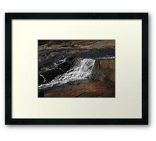 Aurora Slated Springs, Flat Rock Framed Print