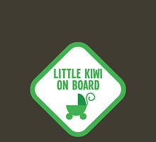 Little kiwi on board (New Zealand baby maternity design) with a pram Womens Fitted T-Shirt