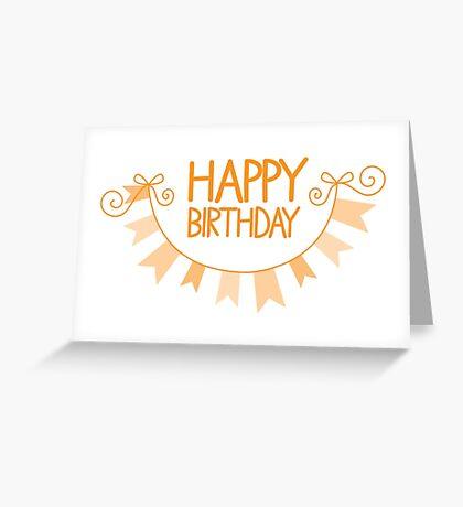 Happy Birthday bunting Greeting Card