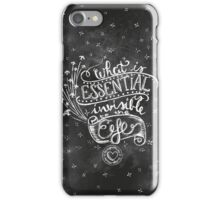 """What is essential is invisibile to the eye"" Chalkboard art design iPhone Case/Skin"