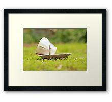 spilt tea Framed Print
