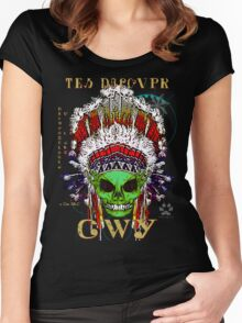 FIRST NATION CHEROKEE ALIEN Women's Fitted Scoop T-Shirt
