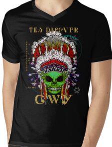 FIRST NATION CHEROKEE ALIEN Mens V-Neck T-Shirt