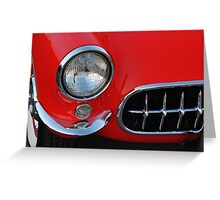 Classic Vette Detail Greeting Card