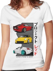 One Fine Lady Women's Fitted V-Neck T-Shirt