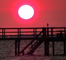 Sunset over the Dock by Rosalie Scanlon