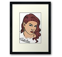 Grand Theft Auto Female Graphic  Framed Print