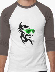 ISSA 2011 Gandhi Shades (White) Men's Baseball ¾ T-Shirt