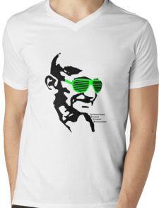 ISSA 2011 Gandhi Shades (White) Mens V-Neck T-Shirt