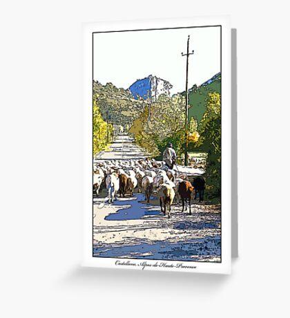 Castellane, Alpes-De-Haute-Provence Greeting Card