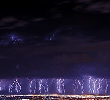 One Hour of Lightning Over Salt Lake City by Ryan Houston