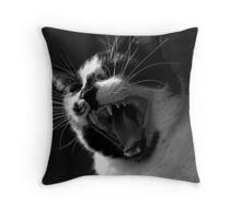 Jack the Cat Yawn 3 Throw Pillow