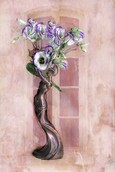 Purple Tipped Lisianthus. by Irene  Burdell