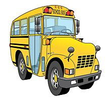 School Bus Cartoon by Graphxpro