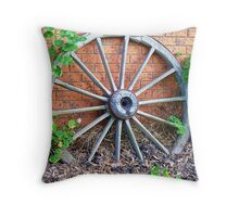 Wagon wheel - handy for plant climber - Kirkstall, Vic. Throw Pillow