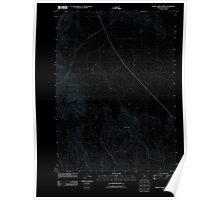 USGS Topo Map Oregon Johnny Creek Spring 20110818 TM Inverted Poster