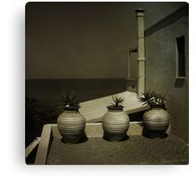 Greek Pots Canvas Print