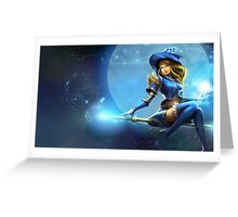 Sorceress Lux - League of Legends Greeting Card