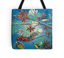 Fish, Feather & Flame Tree Flowers Tote Bag