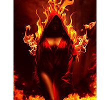 burning souls - fire demon Photographic Print