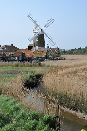 Cley Windmill and the River Glaven by cleywindmill
