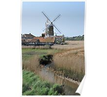 Cley Windmill and the River Glaven Poster