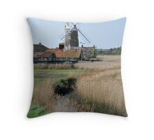 Cley Windmill and the River Glaven Throw Pillow