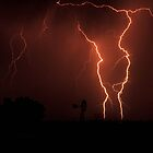 Heavy Thunderstorm with spectacular lightning on the farm where I live in the Free State, South Africa. 001 by Qnita